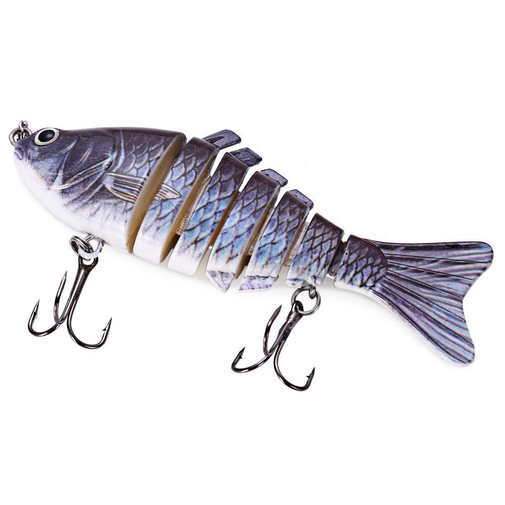 10cm 3D Eyes Lifelike 6 Jointed Sections Swimbait Hard Bait Lures Fishing Tackle