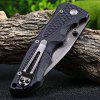 Enlan EL-12 Liner Lock Pocket Knife with Clip - FULL BLACK