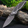 Enlan EW091 Frame Lock Pocket Knife Hollow Out Handle - BLACK