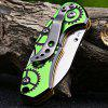 Sanrenmu 4097 BUX-LPHR Back Lock Pocket Knife - GREEN