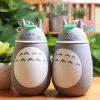 Totoro Shape Vacuum Water Cup - GREY AND WHITE