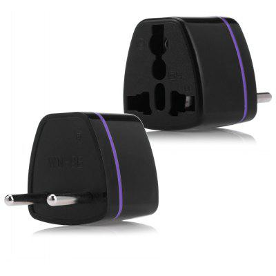 Universal EU Plug Power Adapter for Travel - Black