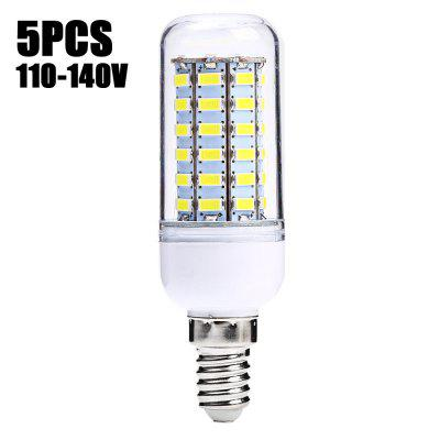 5 x SZFC 5.5W E14 SMD 5730 500Lm LED Corn Light