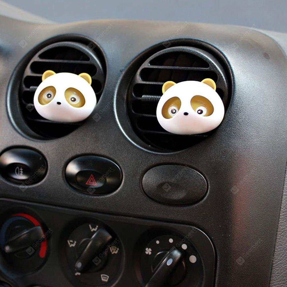 One Pair Panda Air Purifiers Car Perfume Outlet