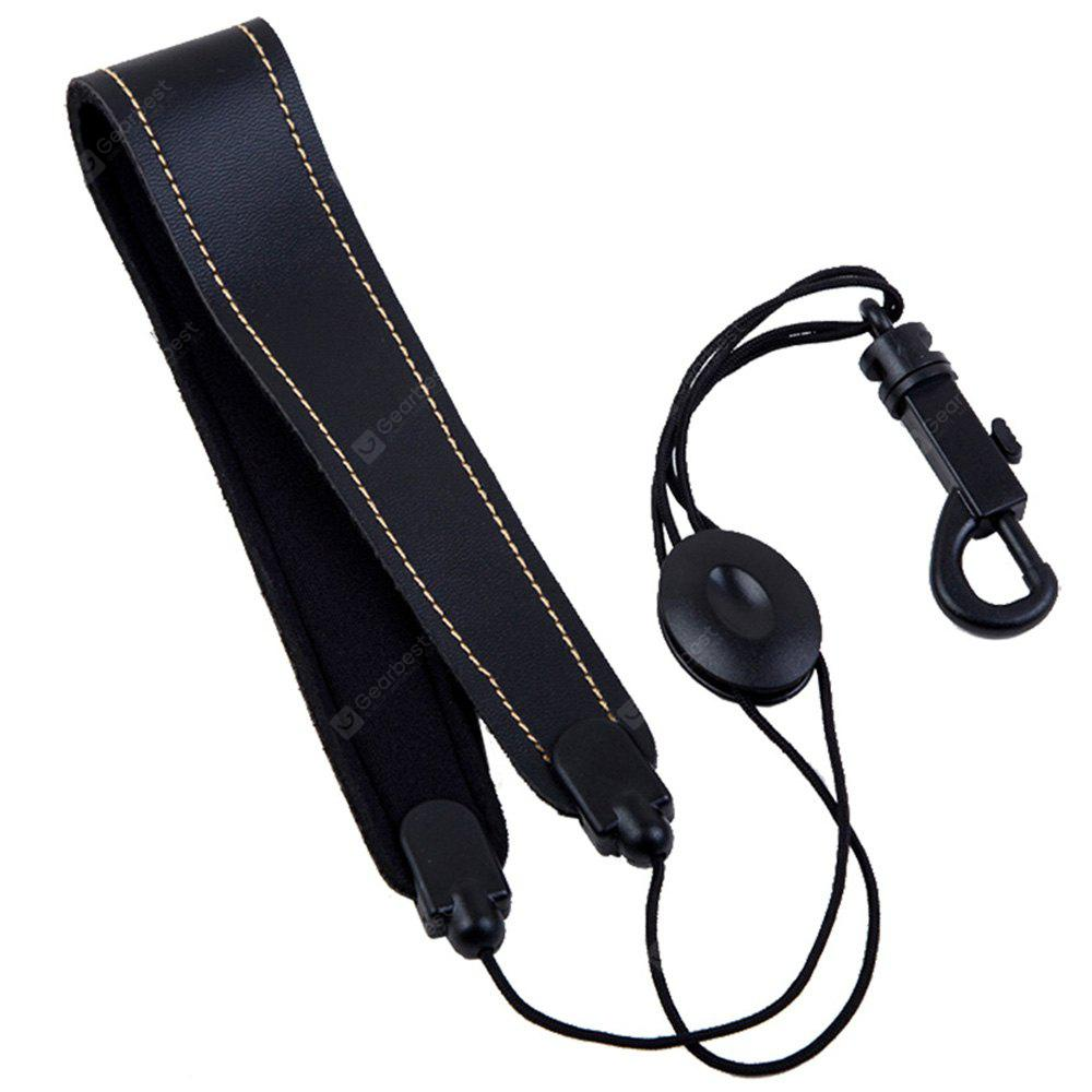 Adjustable Saxophone Sax Leather Neck Strap with Hook Clasp Musical Instrument Accessory