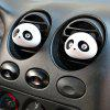 One Pair Panda Air Purifiers Car Perfume Outlet - COLORMIX