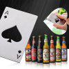 Spades Ace Shape Bottle Opener - BLACK