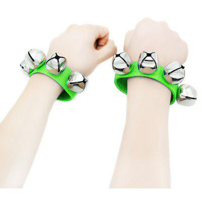 Buy GRASS GREEN Bracelet Wrist Tambourine Instrument Toy Gift for Kids for $2.29 in GearBest store