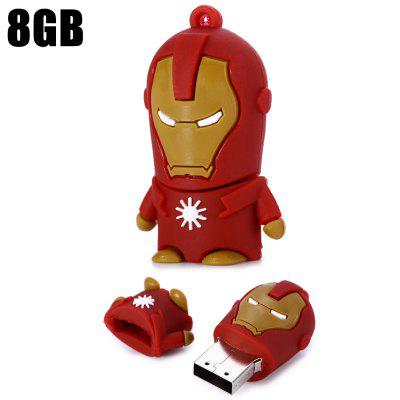 8GB Iron Man USB 2.0 Flash Disk Stick / Flash Memory Drive