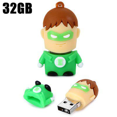 32GB Green Lantern USB 2.0 Stick / Flash Memory Drive