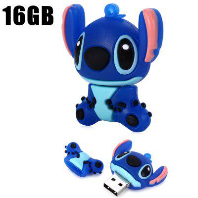 16GB Stitch Style USB 2.0 Flash Disk / DriveUSB Flash Drives<br>16GB Stitch Style USB 2.0 Flash Disk / Drive<br><br>Available Color: Blue<br>Capacity: 16G<br>Features: Cartoon, Dustproof<br>Interface: USB 2.0<br>Package Contents: 1 x 16GB Stitch Style USB 2.0 Flash Disk<br>Package size (L x W x H): 5.50 x 5.10 x 3.30 cm / 2.17 x 2.01 x 1.3 inches<br>Package weight: 0.0530 kg<br>Product size (L x W x H): 4.50 x 4.10 x 2.30 cm / 1.77 x 1.61 x 0.91 inches<br>Product weight: 0.0130 kg<br>Style: Cartoon<br>Type: USB Stick