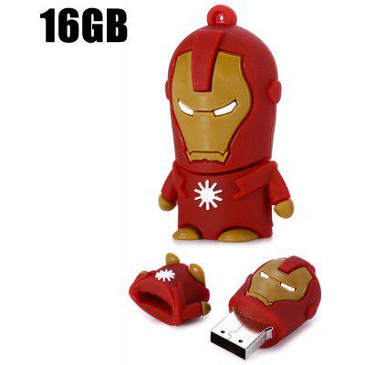 16GB Iron Man USB 2.0 Flash Disk Stick / unidad de memoria flash