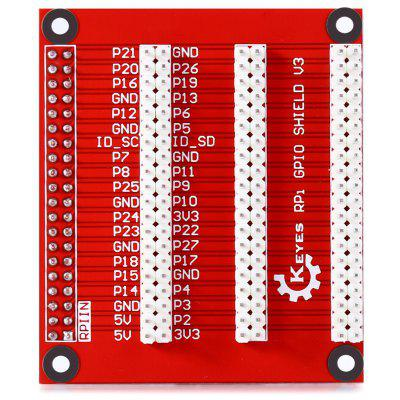 High Performance 1 - to - 3 GPIO Expansion Board for Raspberry Pi B+