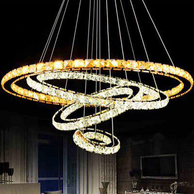 LightMyself 86W 6000Lm Diamond Ring LED Crystal Chandelier