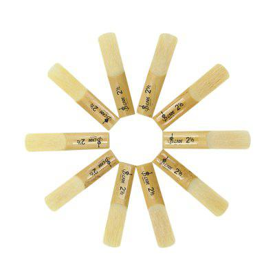 10Pcs Lade Strength 2.5 ReedBrass<br>10Pcs Lade Strength 2.5 Reed<br><br>Package Contents: 10 x Treble bB Saxophone Reed<br>Package size: 10.000 x 5.000 x 2.000 cm / 3.937 x 1.969 x 0.787 inches<br>Package weight: 0.720 KG<br>Type: Saxophone Accessory