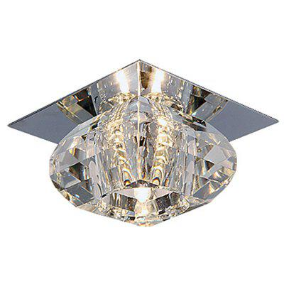 LightMyself 3W 250LM Crystal Corridor Ceiling LampFlush Ceiling Lights<br>LightMyself 3W 250LM Crystal Corridor Ceiling Lamp<br><br>Battery Included: No<br>Brand: LightMyself<br>Bulb Base: LED Integrated<br>Bulb Included: Yes<br>Color Temperature or Wavelength: 3200 - 3500k<br>Features: Bulb Included, Eye Protection<br>Fixture Height ( CM ): 16cm<br>Fixture Length ( CM ): 10cm<br>Fixture Width ( CM ): 10cm<br>Light Direction: Downlight<br>Light Source Color: Warm White<br>Number of Bulb: More than 20 Bulbs<br>Number of Bulb Sockets: More Than 20<br>Package Contents: 1 x LightMyself Ceiling Lamp<br>Package size (L x W x H): 15.00 x 15.00 x 17.00 cm / 5.91 x 5.91 x 6.69 inches<br>Package weight: 0.5000 kg<br>Product weight: 0.4000 kg<br>Remote Control Supported: No<br>Shade Material: Crystal<br>Style: LED, Modern/Contemporary<br>Suggested Room Size: 10 - 15?<br>Suggested Space Fit: Bedroom,Dining Room,Kitchen,Living Room,Study Room<br>Type: Pendant Light<br>Voltage ( V ): AC220 - 240<br>Wattage (W): 3