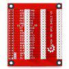 High Performance 1 - to - 3 GPIO Expansion Board for Raspberry Pi B+ - RED