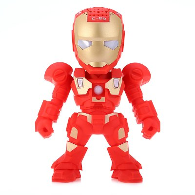 C-89 Iron Man Portable Bluetooth Music Speaker with Mic Hands-free Talking