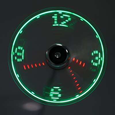 Flashing Clock USB LED Fan