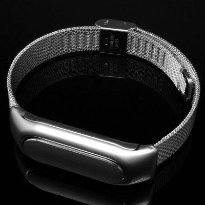 No Screw  Installation Milanese Style Steel StrapSmart Watch Accessories<br>No Screw  Installation Milanese Style Steel Strap<br><br>Available brand: Xiaomi<br>Color: Silver<br>Features: Anti-lost design<br>Material: Stainless Steel<br>Package Contents: 1 x Watchband for Xiaomi Miband, 1 x Box<br>Package size (L x W x H): 9.00 x 9.00 x 2.00 cm / 3.54 x 3.54 x 0.79 inches<br>Package weight: 0.090 kg<br>Product size (L x W x H): 24.00 x 1.35 x 1.00 cm / 9.45 x 0.53 x 0.39 inches<br>Product weight: 0.040 kg<br>Type: Smart watch / wristband band