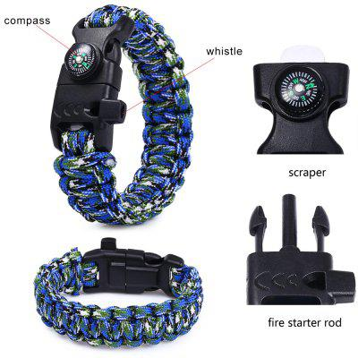 5 Functions in 1 Outdoor Survival Paracord Bracelet