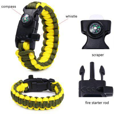 Buy 5 Functions in 1 Outdoor Survival Paracord Bracelet ARMY GREEN for $1.64 in GearBest store