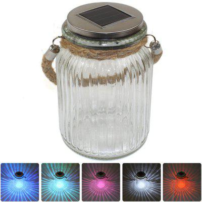 CIS-57656 Wishing Bottle Style Solar Power LED Light RGB Nightlight