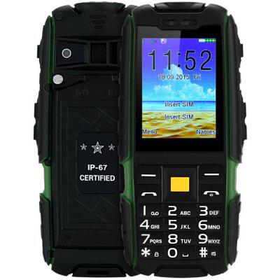 Buy X6000 Quad Band Unlocked Phone GREEN for $33.99 in GearBest store