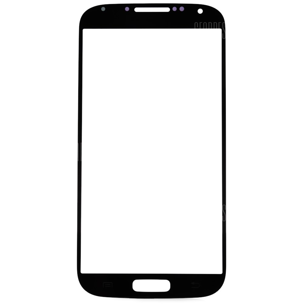BLACK Outer Glass Lens Cover with Repair Tools for Samsung S4