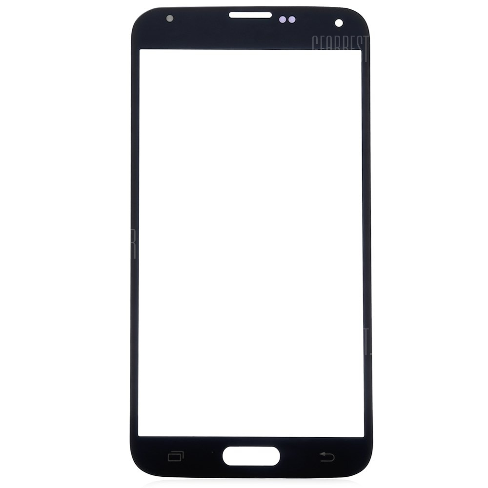 BLACK Outer Glass Lens Cover with Repair Tools for Samsung S5