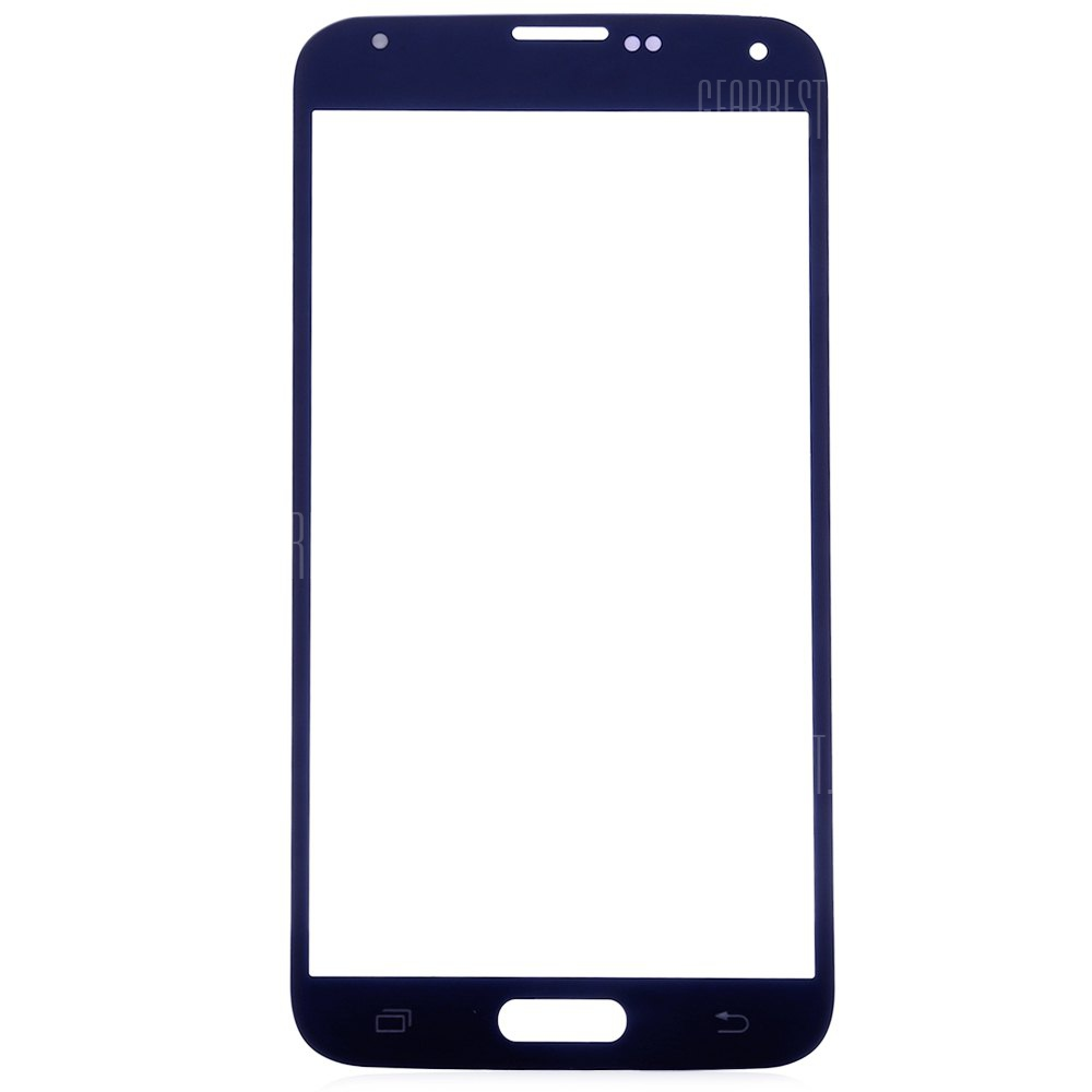 BLUE Outer Glass Lens Cover with Repair Tools for Samsung S5