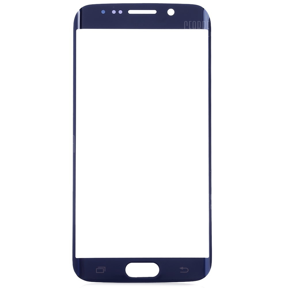 BLUE Outer Glass Lens Cover with Repair Tools for Samsung S6 Edge