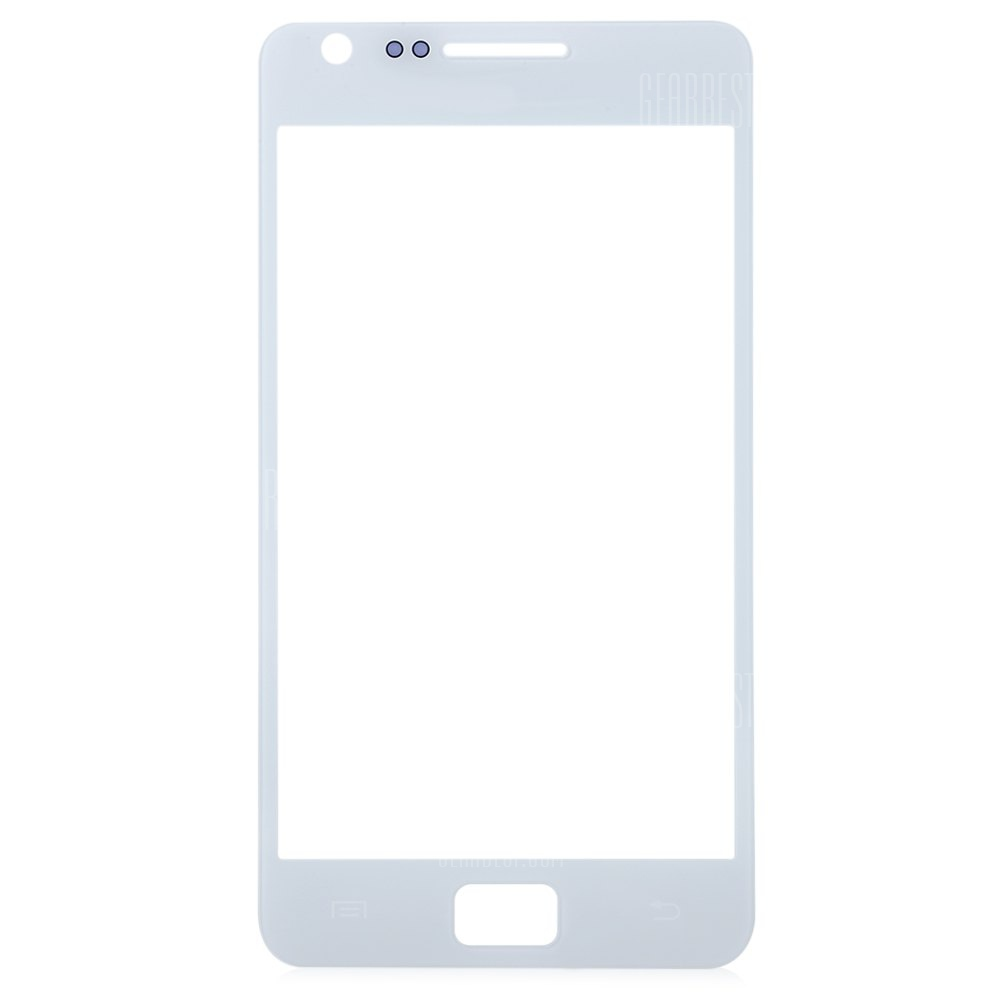 WHITE Outer Glass Lens Cover with Repair Tools for Samsung S2