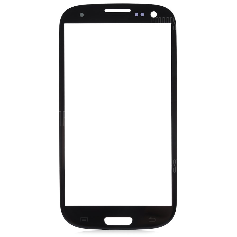 BLACK Outer Glass Lens Cover with Repair Tools for Samsung S3