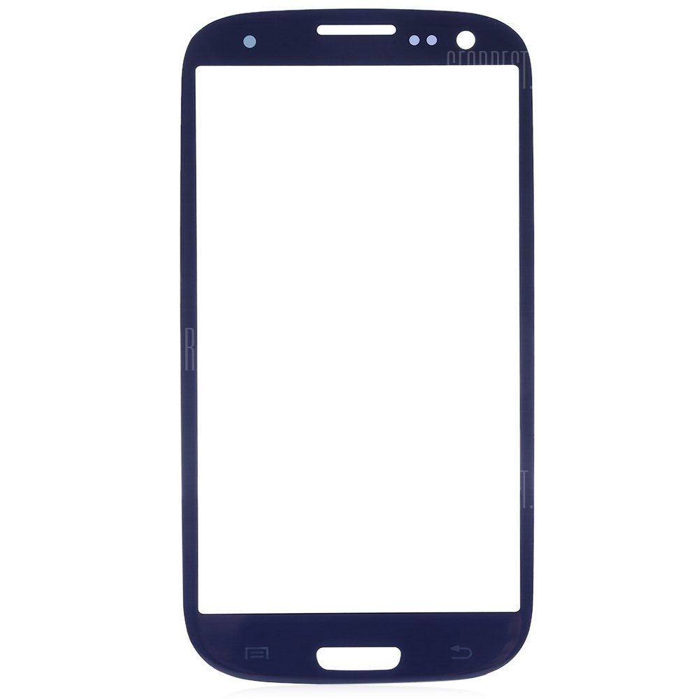 BLUE Outer Glass Lens Cover with Repair Tools for Samsung S3