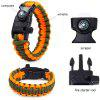 5 Functions in 1 Outdoor Survival Paracord Bracelet - ORANGE