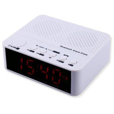 Buy WHITE MX 017 Portable Desktop Alarm Clock Bluetooth V2.1 Stereo Speaker for $18.20 in GearBest store