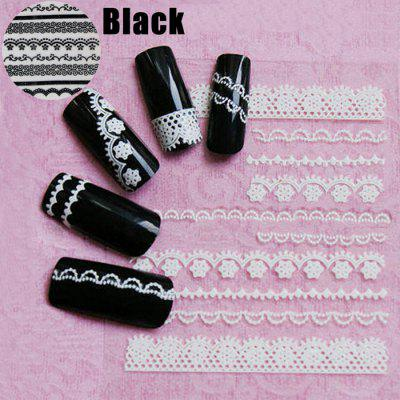 Diy 3d Lace Style Nail Art Decoration Sticker 09 Online Shopping