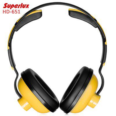 Superlux HD-651 Headband Music Headphones with Super Bass Clear Human Voice
