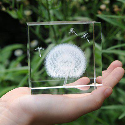 Crystal Cube Dandelion Decoration