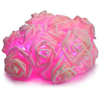 20-LED Emulational Rose Flower Decorative String Lights