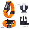 best 5 Functions in 1 Outdoor Survival Paracord Bracelet