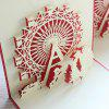 cheap Cute 3D Paper Hollow Out Christmas Postcards