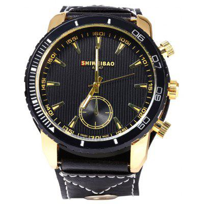 Shiweibao A1447 Decorative sub-dial Quartz Male Watch