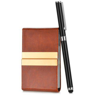 MK9753 3 in 1 Capacitance Pen / Ballpoint / Magnetic PU Card Case