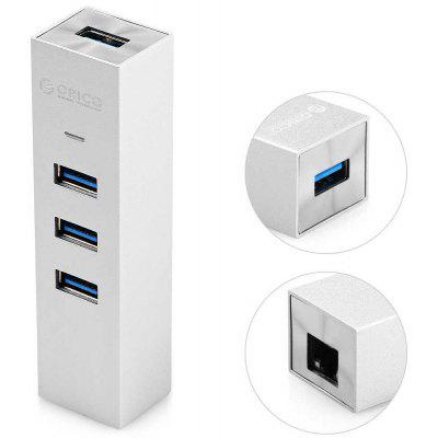 ORICO ASH3L-U3 3-Port USB 3.0 Gigabit Ethernet Adapter Hub 5Gbps Aluminum Alloy Body