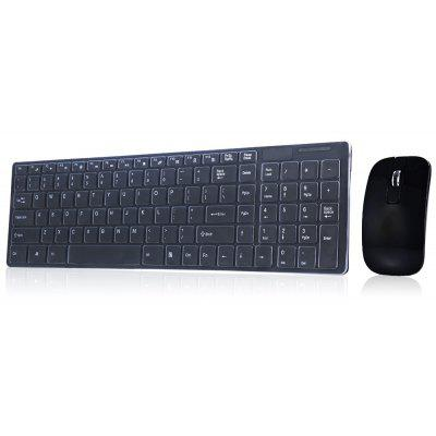 HK3600 2.4G Wireless Keyboard / Mouse Combo with Numeric Keypad