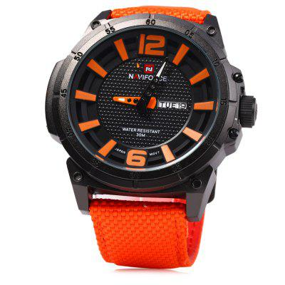 Naviforce 9066 Day Date Display Men Quartz WatchMens Watches<br>Naviforce 9066 Day Date Display Men Quartz Watch<br><br>Available Color: Red,Blue,Orange,Yellow,Black<br>Band material: Canvas<br>Brand: Naviforce<br>Case material: Stainless Steel<br>Clasp type: Pin buckle<br>Display type: Analog<br>Movement type: Quartz watch<br>Package Contents: 1 x Naviforce 9066 Watch<br>Package size (L x W x H): 26.000 x 6.000 x 2.000 cm / 10.236 x 2.362 x 0.787 inches<br>Package weight: 0.113 kg<br>Product size (L x W x H): 25.000 x 5.000 x 1.000 cm / 9.843 x 1.969 x 0.394 inches<br>Product weight: 0.083 kg<br>Shape of the dial: Round<br>Special features: Day, Date<br>The band width: 2.2 cm / 0.87 inches<br>The dial diameter: 5.0 cm / 1.97 inches<br>The dial thickness: 1.0 cm / 0.39 inches<br>Watch style: Fashion<br>Watches categories: Male table<br>Wearable length: 17.5 - 22 cm / 6.89 - 8.66 inches