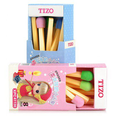 Tizo MK7996 2 x 8 PCS Creative Cartoon Match Style Eraser