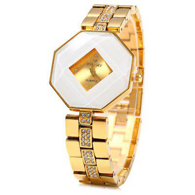 Kingsky 5194 Diamond Ladies Chain Quartz Watch